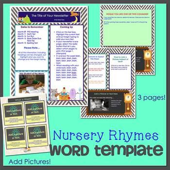 Nursery rhymes newsletter template word by the newsletter store nursery rhymes newsletter template word maxwellsz