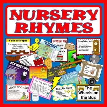 NURSERY RHYMES -SINGING SONGS ROLE PLAY PROPS POSTERS POEMS