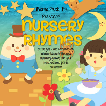 NURSERY RHYMES Math and Literacy Centers for Preschool and Pre-K