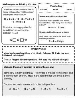 NWEA Algebraic Thinking