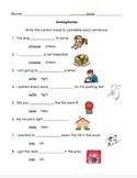 NWEA DesCartes Homophones (Complete the Sentence)
