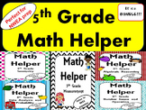 NWEA- Fifth  Grade Helper- MATH BUNDLE