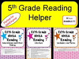 NWEA- Fifth  Grade Helper- Reading BUNDLE