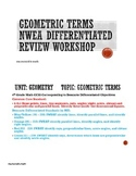 NWEA Geometric Terms Differentiated Review Workshop