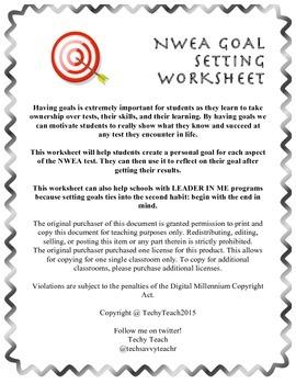 NWEA Goal Setting Worksheet