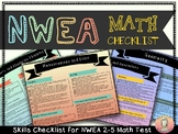 NWEA MAP 2-5 Test: Math Checklist in Color