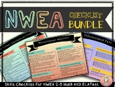 NWEA MAP 2-5 Test: Math and ELA Checklist Bundle (in color)