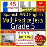 5th Grade NWEA MAP Bilingual Math: Test Prep Practice - English AND Spanish
