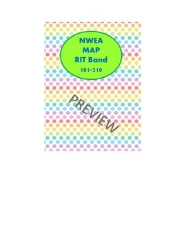 NWEA MAP FOUNDATIONAL SKILLS AND PRE/POST ASSESSMENTS 171-210