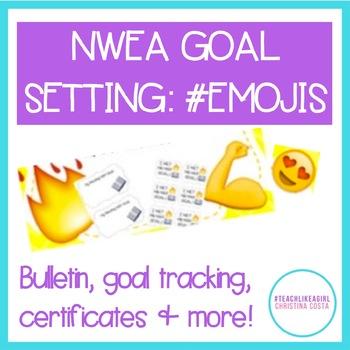 NWEA MAP Goal Setting #EMOJI VERSION - Bulletin, Brag Tags, Student Growth