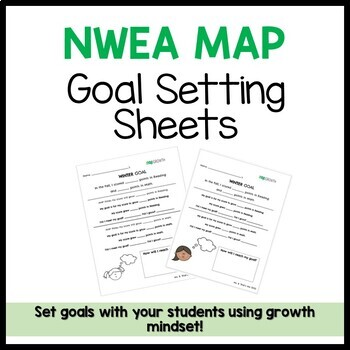 NWEA MAP Goal Setting Sheets - Growth Mindset