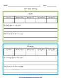 NWEA MAP Goal Setting Worksheet