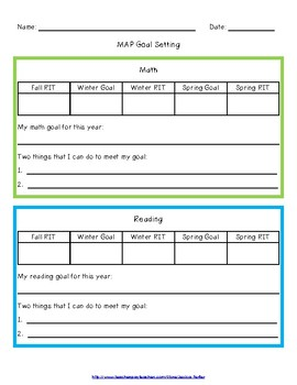 NWEA MAP Goal Setting Worksheet