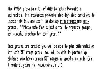 NWEA MAP TEST Group Organization