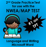 NWEA MAP Language and Writing Practice Test w/90+ spelling words. Word