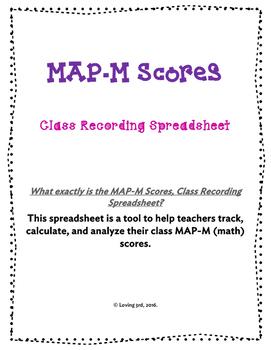 NWEA MAP-M (Math) Scores, Class Recording Spreadsheet
