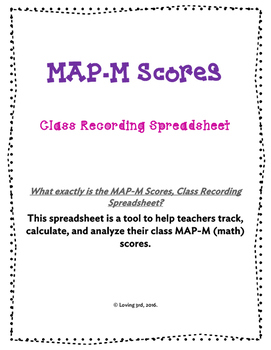 NWEA MAP-M (Math) and MAP-R (Reading) Scores, Class Recording Spreadsheet BUNDLE