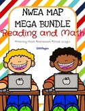 NWEA MAP MEGA Bundle: Reading AND Math: Practice Pages RIT 131-200