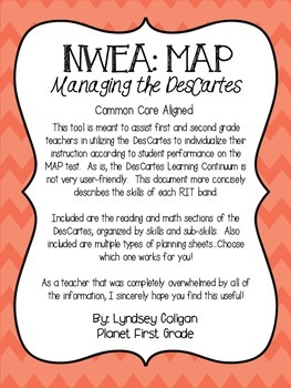 NWEA MAP: Managing the Descartes for First and Second Grade