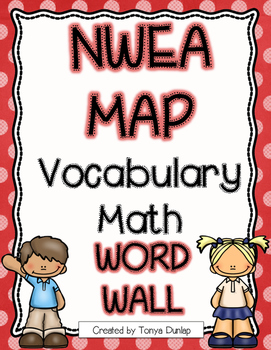 NWEA MAP Math Academic Vocabulary Word Wall RIT 151-220, Color Coded