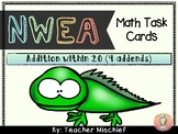 NWEA MAP Math Cards: Addition within 20 (4 addends)