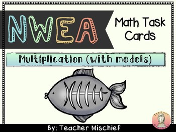 NWEA MAP Math Cards- Multiplication with Models