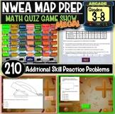 End of year No Prep NWEA MAP Prep Math Game Show Bundle (5 games)