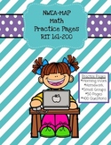 NWEA MAP Math: Practice Pages RIT 161-200-Distance Learning