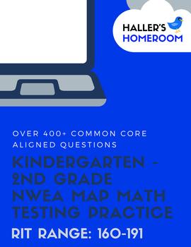 NWEA MAP Math Practice Questions Kindergarten - 2nd Grade [RIT 160-191]