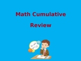 Math Cumulative End-of-Year Review PowerPoint
