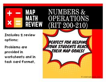 NWEA MAP Math Test BUNDLE (RIT Band 200-210)