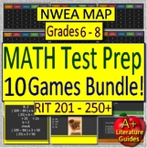 NWEA MAP Math Test Prep (RIT 201 - 250+)  (Grades 6 - 8) 10 PowerPoint Games