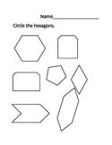 NWEA MAP Math Worksheet Hexagons WORD