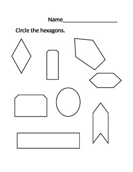 NWEA MAP Math Worksheet Hexagons WORD