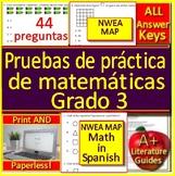 3rd Grade NWEA MAP Math in Spanish: Pruebas de práctica de matemáticas Grado 3