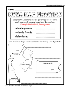NWEA MAP No-Prep Resources RIT Band 191-200