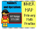 NWEA MAP PRIMARY MATH PRACTICE NUMBERS AND OPERATIONS 171-180