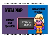 NWEA MAP PRIMARY MATH PRACTICE NUMBERS AND OPERATIONS 181-190