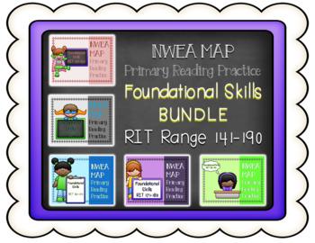 NWEA MAP PRIMARY READING PRACTICE *BUNDLE* Foundational Skills RIT Range 141-190