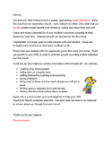 NWEA MAP Parent Letter for skills review
