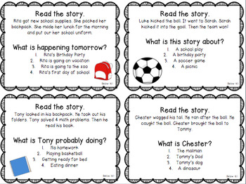 NWEA MAP Practice Test Question Cards- Reading and Math