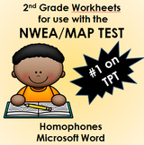 NWEA MAP Practice Worksheets (6) Homophones WORD