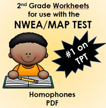 NWEA MAP Practice Worksheets (6) Homophones PDF