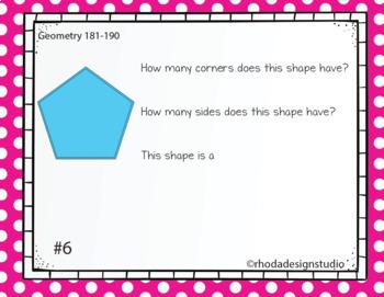 NWEA MAP Prep Geometry RIT Band 181-190 Boom Learning Deck