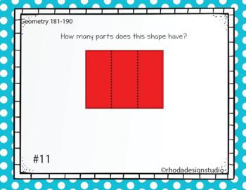 Standardized Test Prep Geometry Maps RIT Band 181-190 Boom Deck Paperless