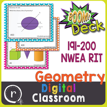 NWEA MAP Prep Geometry RIT Band 191-200 Boom Learning Deck