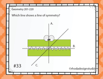 Standardized Test Prep Maps Geometry RIT Band 201-220 Boom Deck Paperless