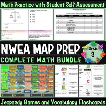 NWEA MAP Prep Math 3rd Grade Bundle