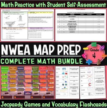 NWEA MAP Prep Math 4th Grade Bundle