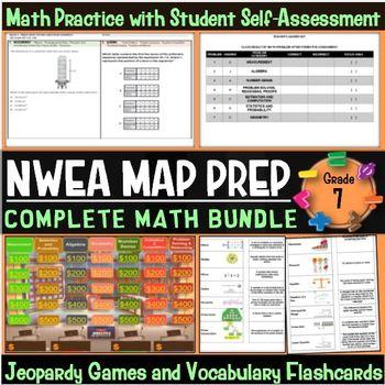 NWEA MAP Prep Math 7th Grade Bundle